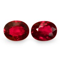 2.03ct Oval Ruby Pair - PR1648-U