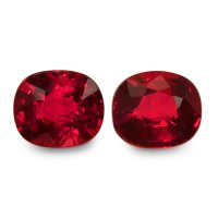 2.16ct Cushion Ruby Pair - PR1650-U