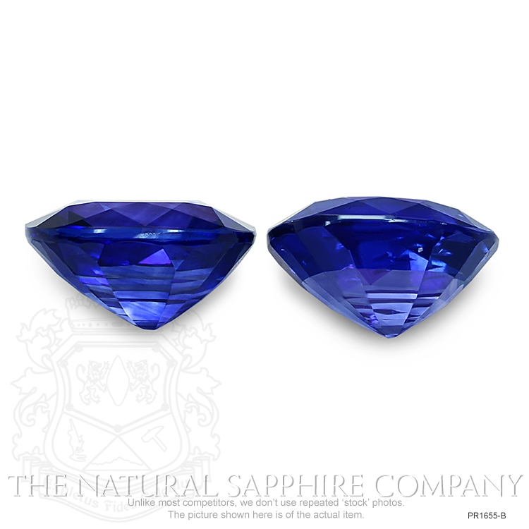 8.44ct natural untreated blue sapphire cushion pairs PR1655-B Image 2