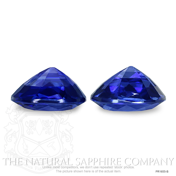 8.44ct natural untreated blue sapphire cushion pairs PR1655-B Image 3