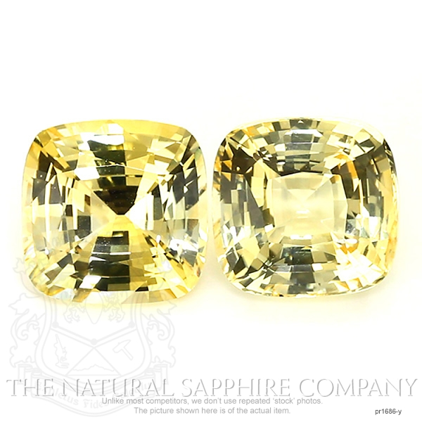 22.16ct. Natural Untreated Yellow Sapphire Pair.  PR1686-Y Image