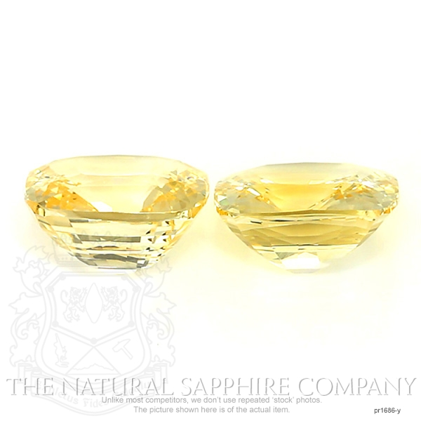 22.16ct. Natural Untreated Yellow Sapphire Pair.  PR1686-Y Image 2