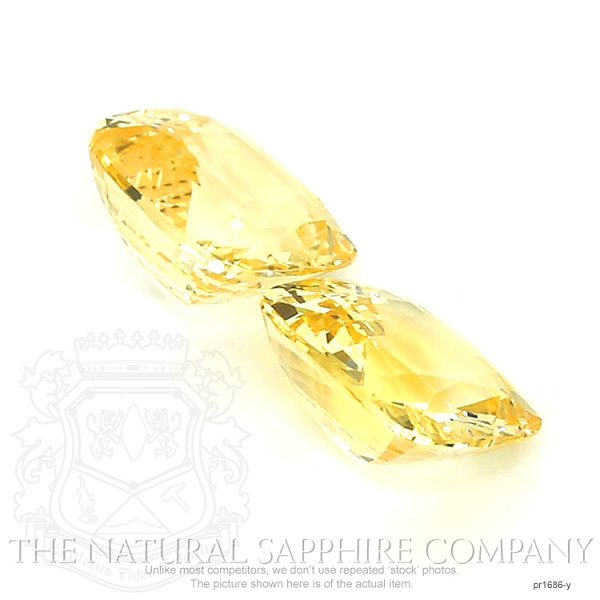 22.16ct. Natural Untreated Yellow Sapphire Pair.  PR1686-Y Image 3