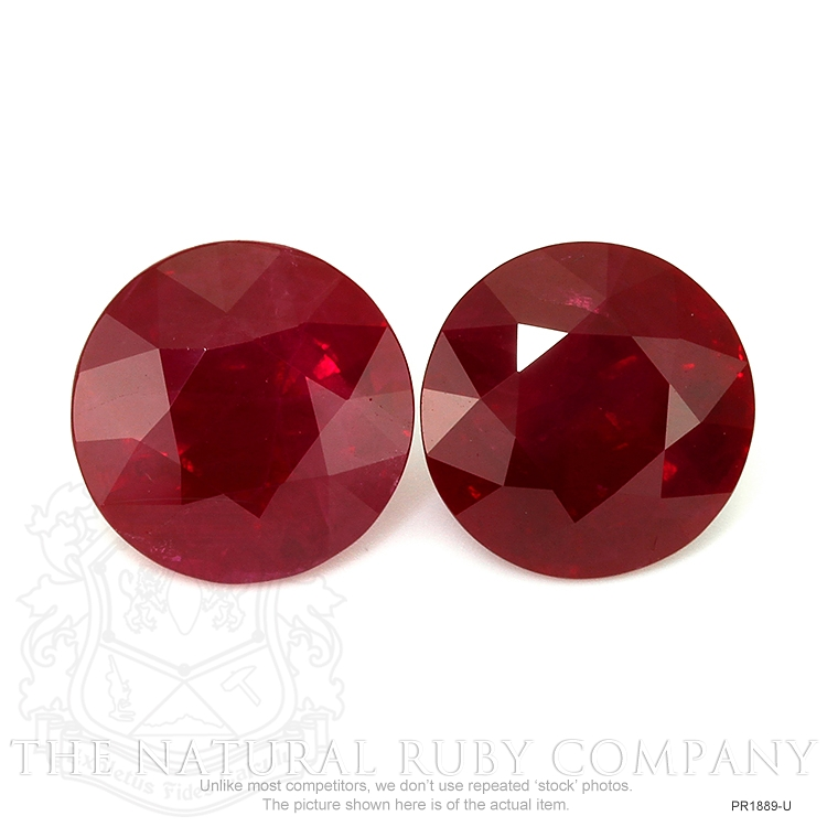 8.17ct Total Heated Ruby Pair PR1889-U Image