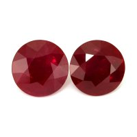 8.17ct Round Ruby Pair - PR1889-U