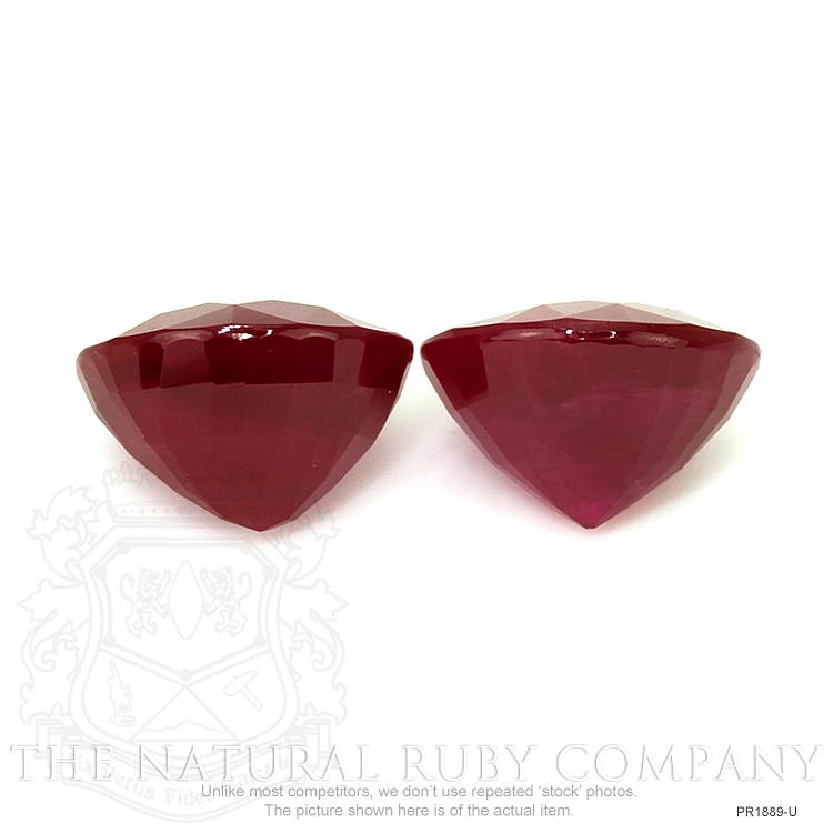 8.17ct Total Heated Ruby Pair PR1889-U Image 2