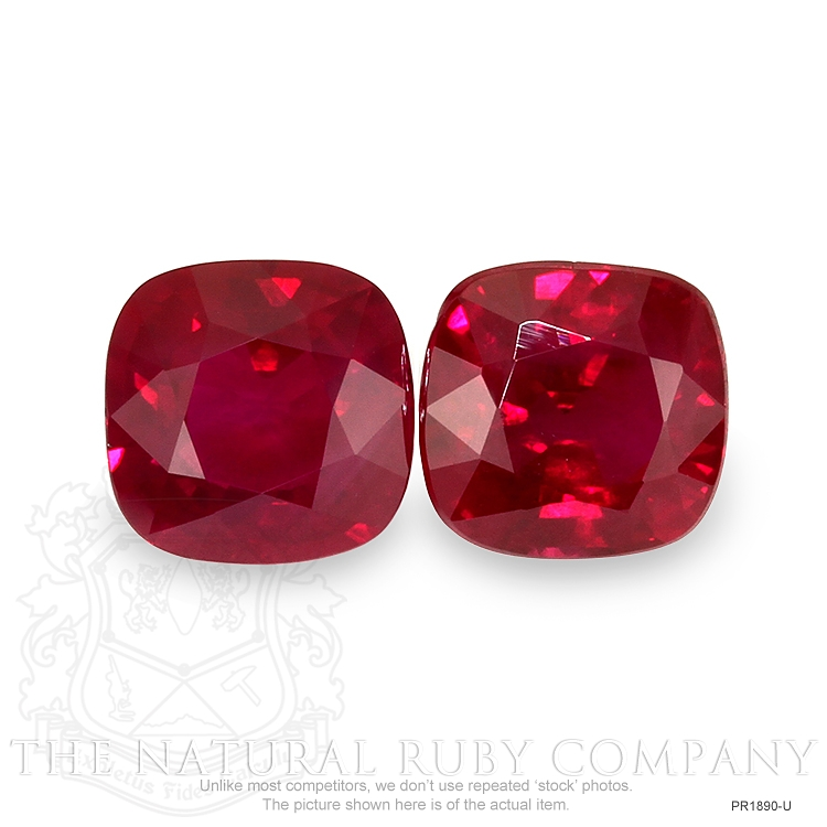 3.69ct Total Heated Natural Ruby Pair PR1890-U Image