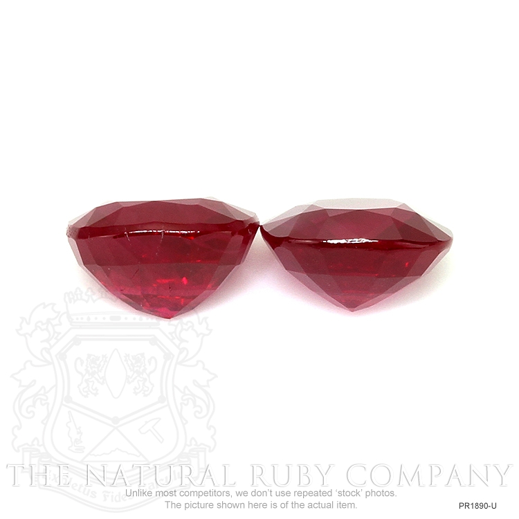 3.69ct Total Heated Natural Ruby Pair PR1890-U Image 2