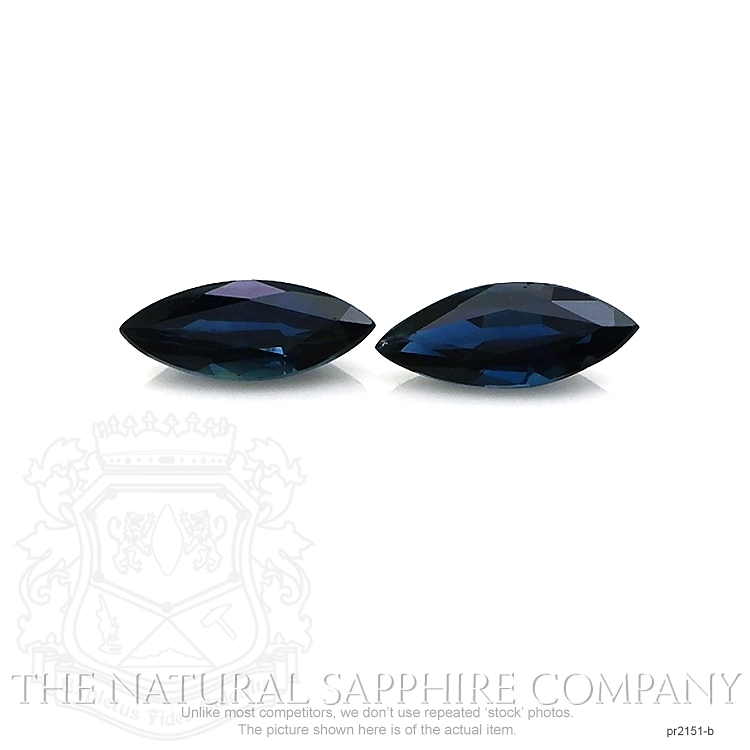 1.38ct Untreated Natural Blue Sapphire Pair PR2151-B Image