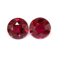 2.04ct Round Ruby Pair - PR2227-U