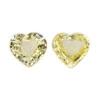 5.83ct Heart Yellow Sapphire Pair - PR2458-Y