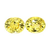 5.41ct Oval Yellow Sapphire Pair - PR2474-Y