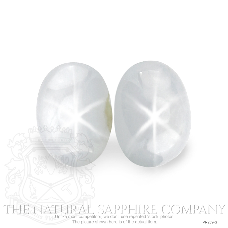 Natural Untreated Star Sapphire pair PR259-S Image