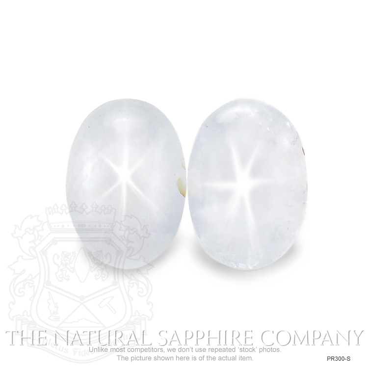 Natural Untreated Star Sapphire Pair PR300-S Image