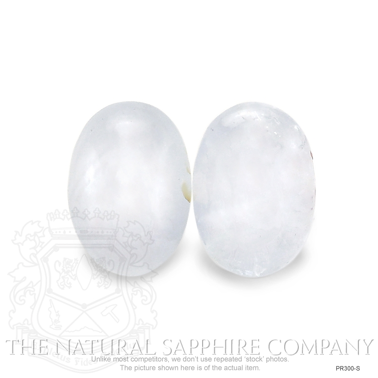 Natural Untreated Star Sapphire Pair PR300-S Image 2