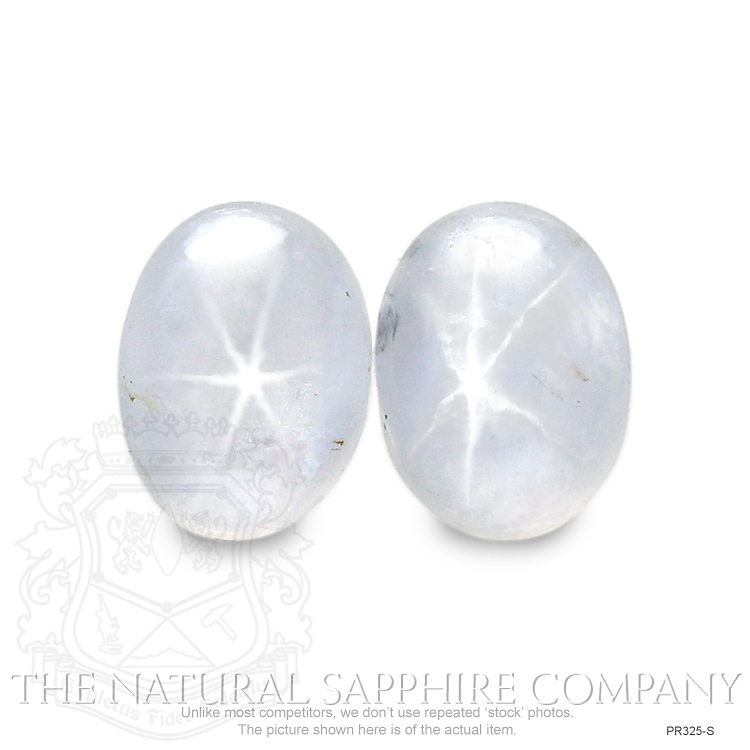 Natural Untreated Star Sapphire Pair PR325-S Image