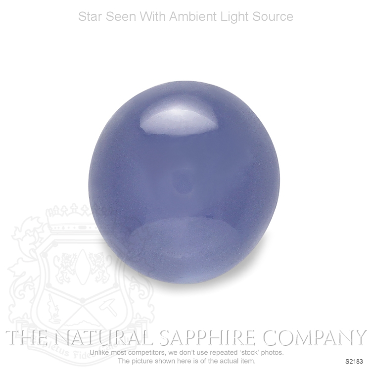 Natural Untreated Blue Star Sapphire S2183 Image 2