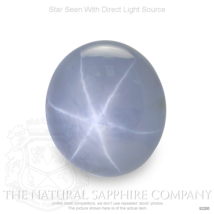 Natural Untreated Grayish Blue Star Sapphire S2200 Image