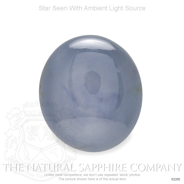 Natural Untreated Grayish Blue Star Sapphire S2200 Image 2