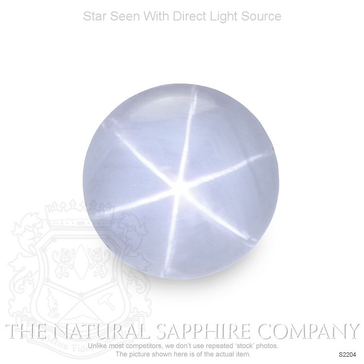 Natural Untreated Grayish Blue Star Sapphire S2204 Image