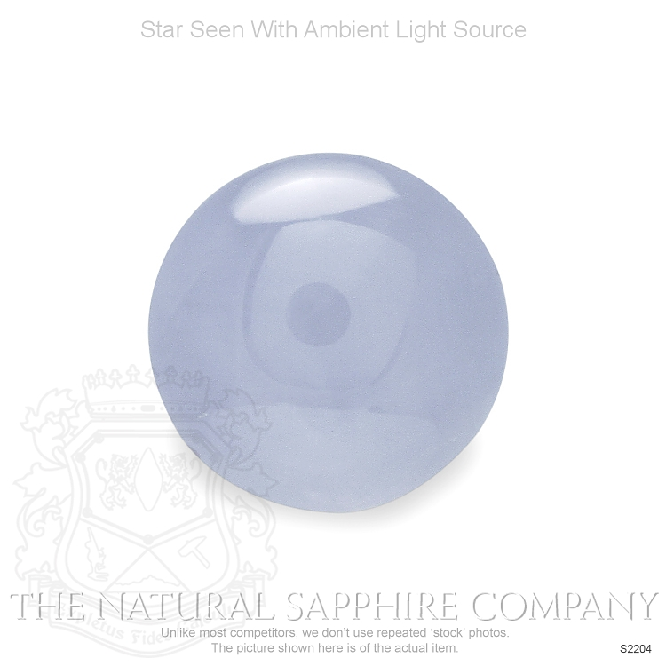 Natural Untreated Grayish Blue Star Sapphire S2204 Image 2