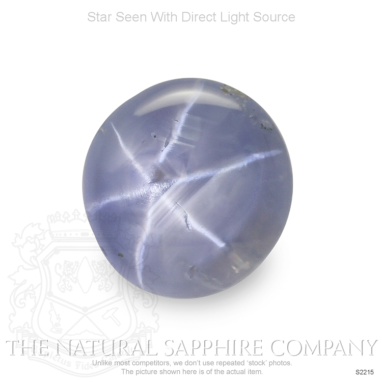 Natural Untreated Blue Star Sapphire S2215 Image