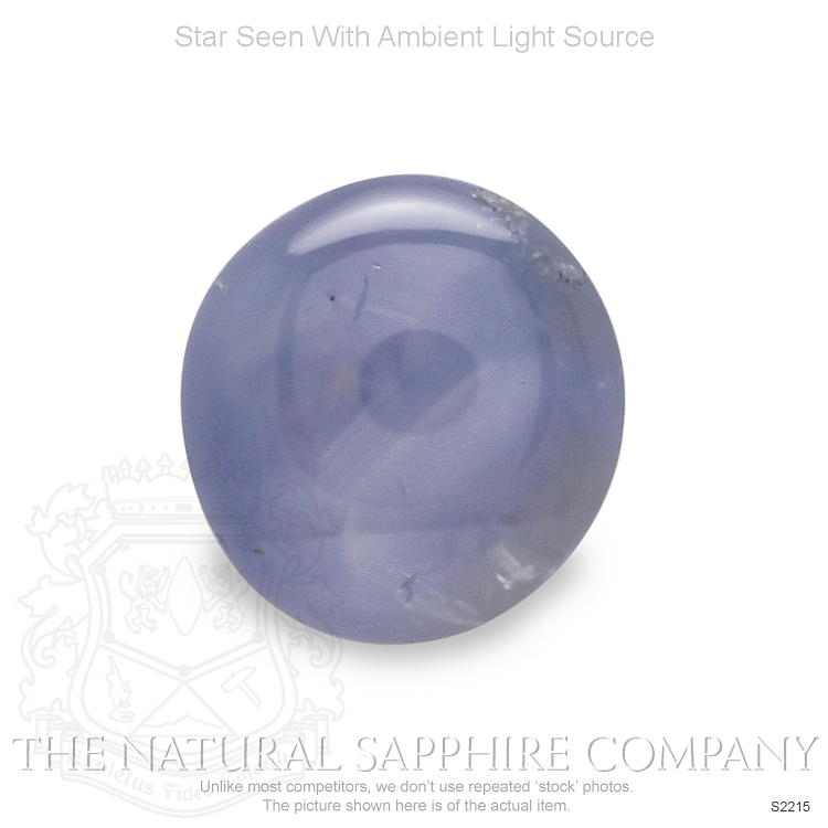 Natural Untreated Blue Star Sapphire S2215 Image 2