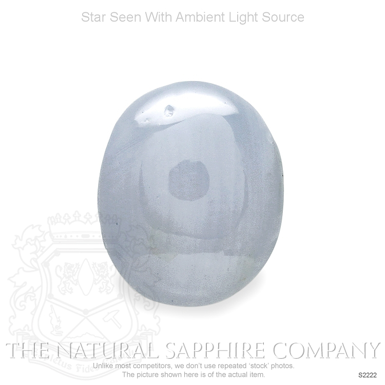 Natural Untreated Blue Star Sapphire S2222 Image 2