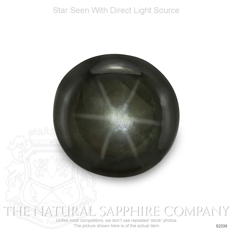 Natural Untreated Black Star Sapphire S2339 Image