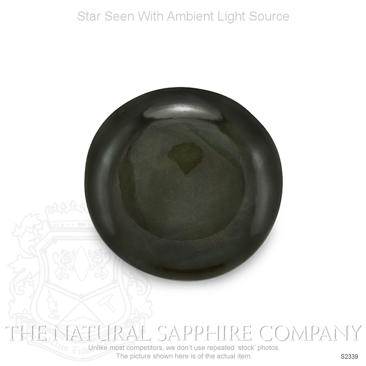 Natural Untreated Black Star Sapphire S2339 Image 2