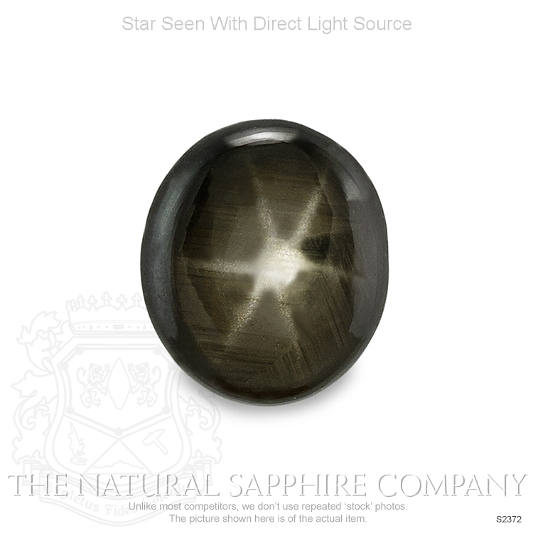 Natural Untreated Black Star Sapphire S2372 Image
