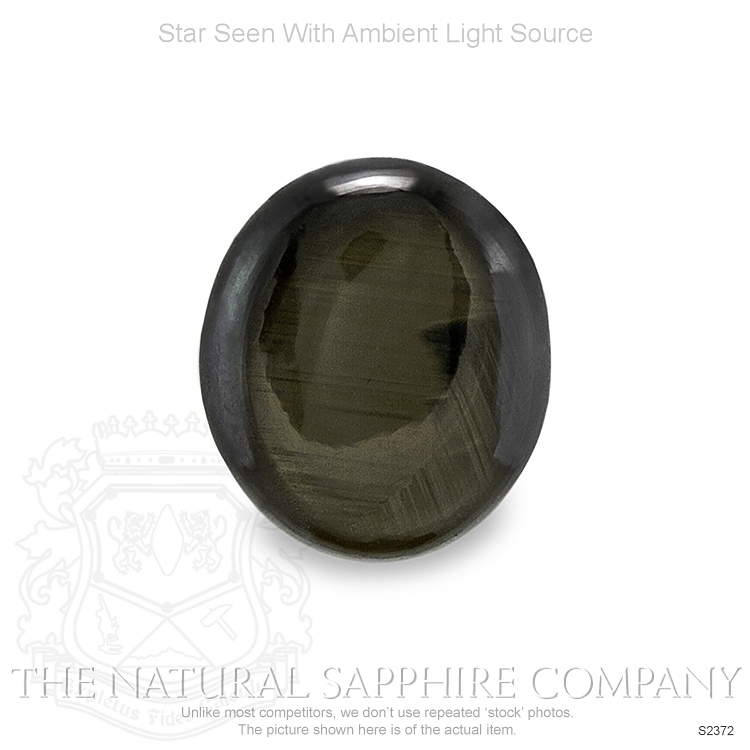 Natural Untreated Black Star Sapphire S2372 Image 2