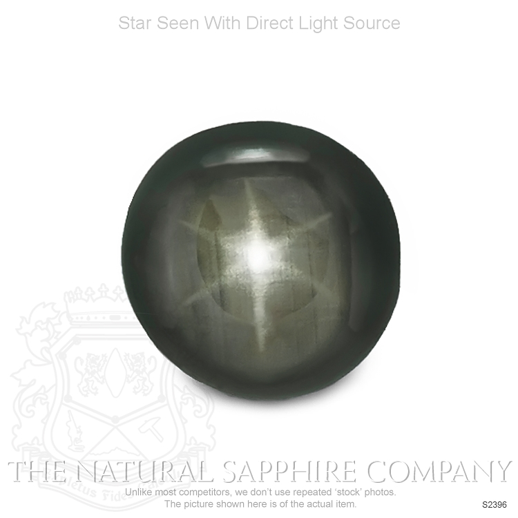 Natural Untreated Black Star Sapphire S2396 Image