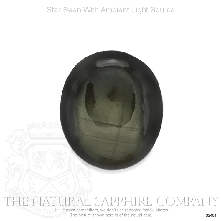 Natural Untreated Black Star Sapphire S2404 Image 2