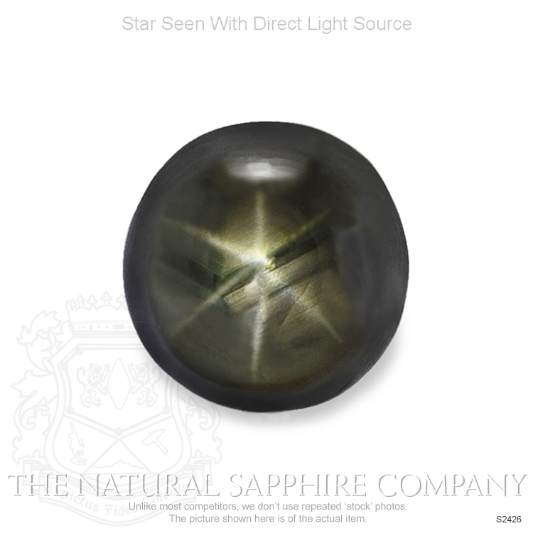 Natural Untreated Black Star Sapphire S2426 Image