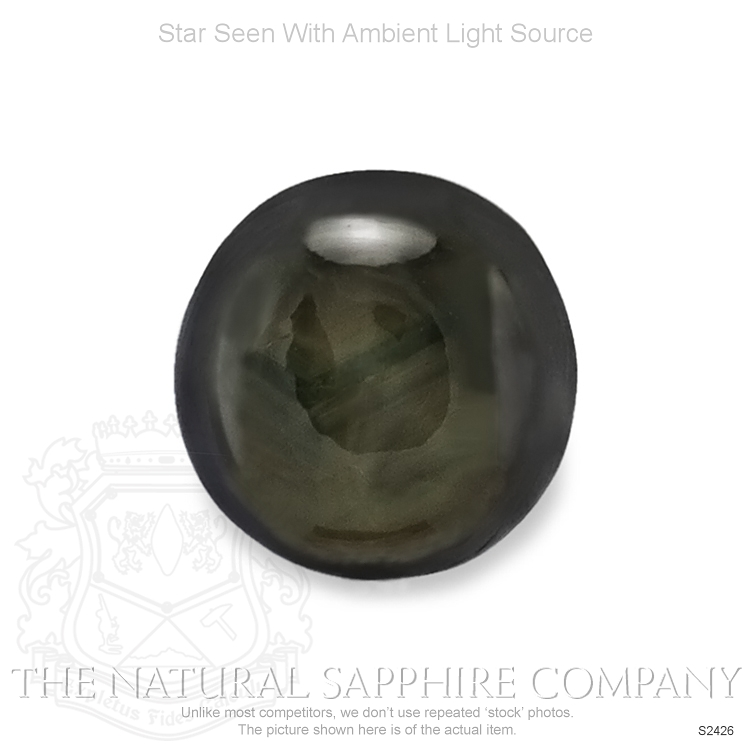 Natural Untreated Black Star Sapphire S2426 Image 2
