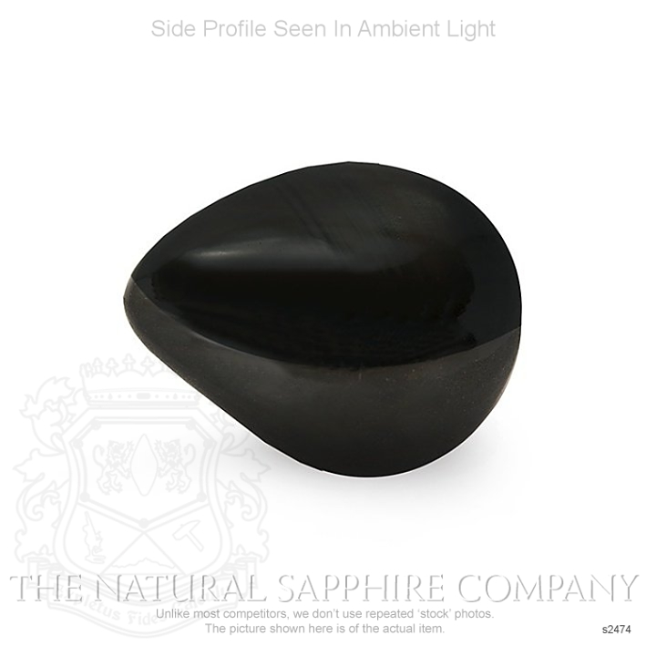 Natural Untreated Black Star Sapphire S2474 Image 3