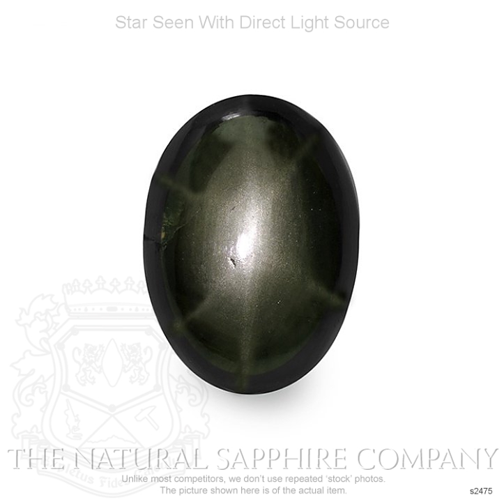 Natural Untreated Black Star Sapphire S2475 Image