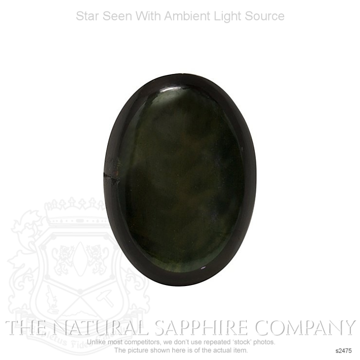 Natural Untreated Black Star Sapphire S2475 Image 2
