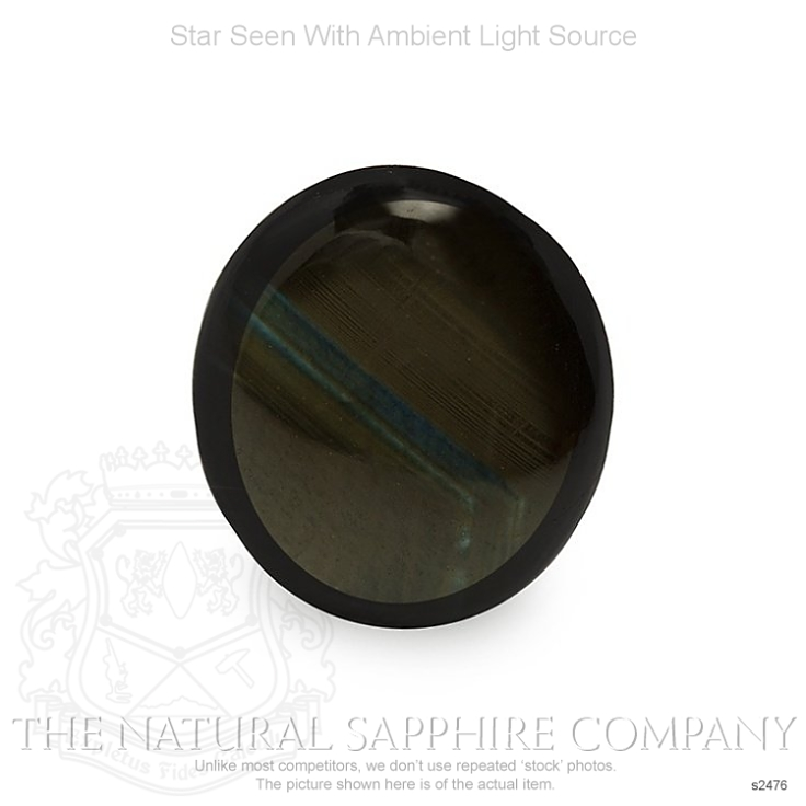 Natural Untreated Black Star Sapphire S2476 Image 2