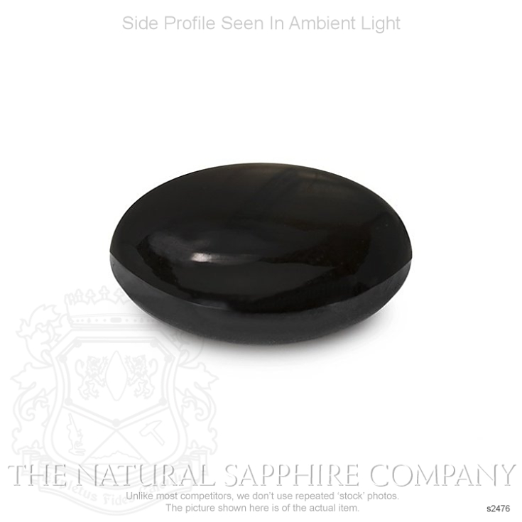 Natural Untreated Black Star Sapphire S2476 Image 3