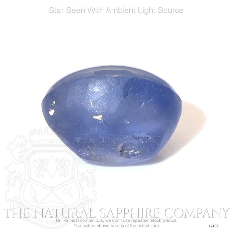 Natural Untreated Blue Star Sapphire S2485 Image 2