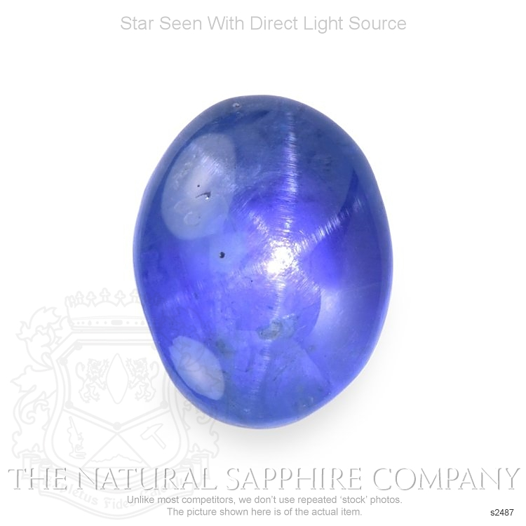 Natural Untreated Blue Star Sapphire S2487 Image