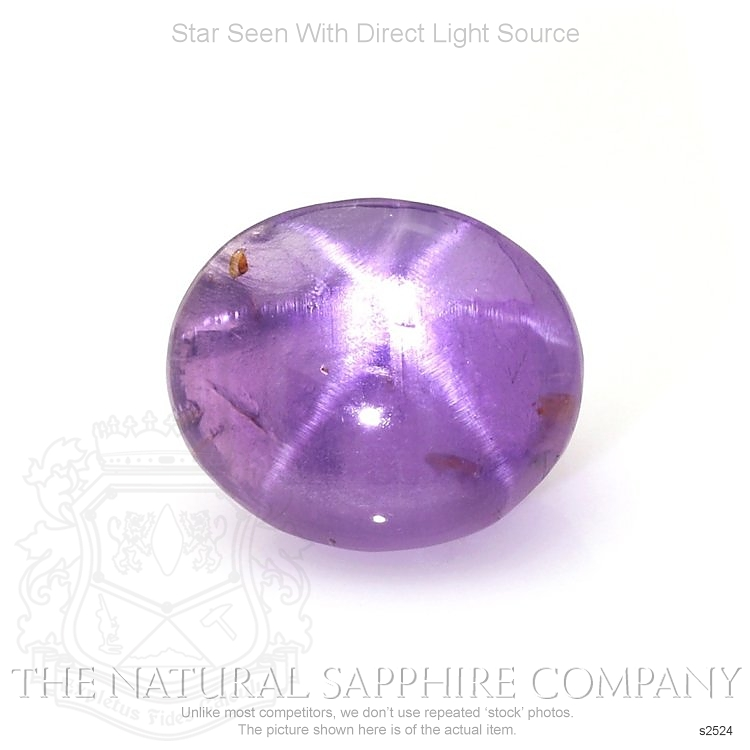 Natural Untreated Purple Star Sapphire S2524 Image