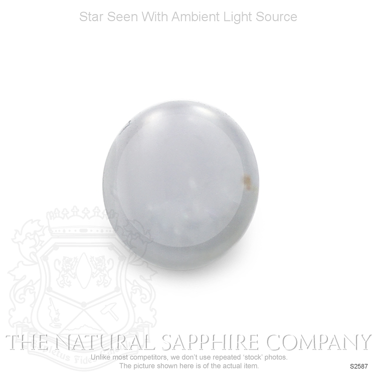 Natural Untreated Star Sapphire S2587 Image 2