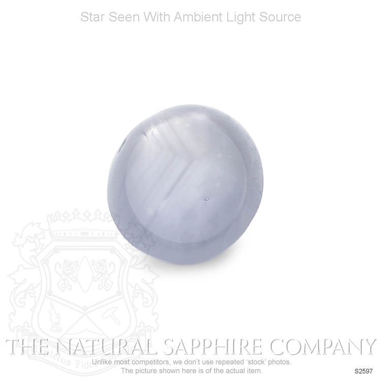 Natural Untreated Star Sapphire S2597 Image 2