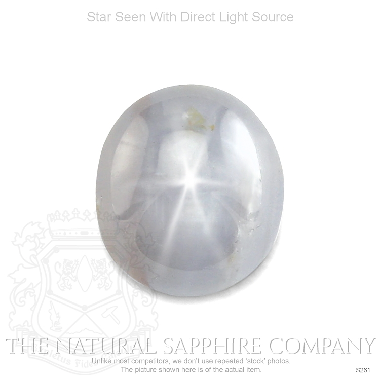 Natural Untreated Metallic Steel Star Sapphire S261 Image