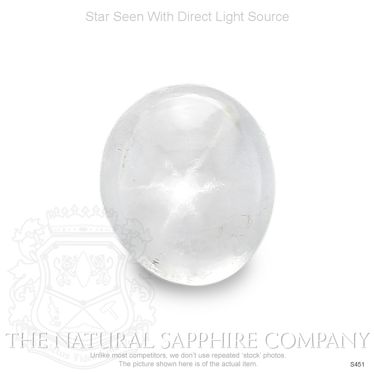 Natural Untreated Colorless Star Sapphire S451 Image