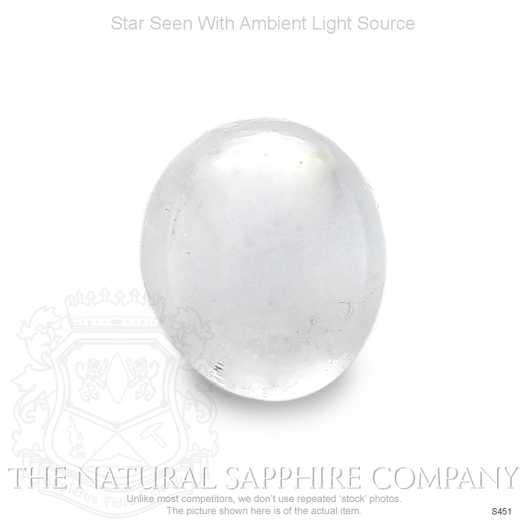 Natural Untreated Colorless Star Sapphire S451 Image 2