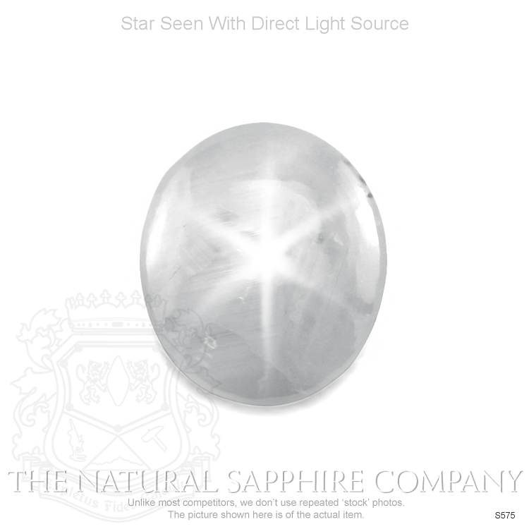 Natural Untreated White Star Sapphire S575 Image